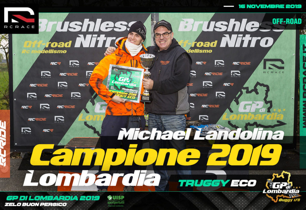 MICHAEL LANDOLINA CAMPIONE GP LOMBARDIA 2019 CATEGORIA TRUGGY ECO