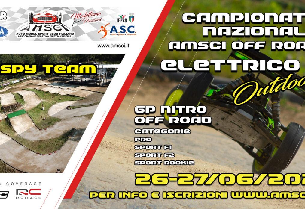 MEDIA COVERAGE PER IL CAMPIONATO NAZIONALE AMSCI OFF-ROAD ELETTRICO OUTDOOR 2021